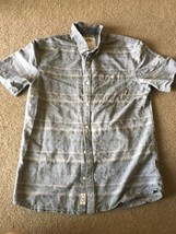 Vans Off The Wall Button Down Shirt Cotton Stripes Boy's L Young Men's Small S - $18.99