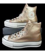 Converse Chuck Taylor All Star Lift Hi Platform Sneaker Gold 562773C 6 W... - $65.00