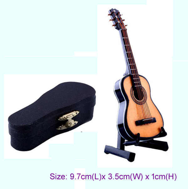 1/12 Musical Instrument Dollhouse Miniature Mini Guitar Music Figure Boxed Gift for sale  USA