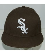 New Era CA40289 Genuine Merchandise Chicago White Sox Fitted Cap Brown S... - $34.99