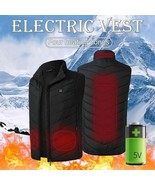 Warm Heated Vest USB Electric Winter Body Warmer Thermal Clothing Unisex Outdoor - $42.22