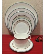 LENOX Kate Spade Library Lane Aqua Dinnerware 6 Piece Place Setting - $55.00
