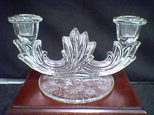 "Primary image for FOSTORIA ""CHINTZ"" DOUBLE CANDLE HOLDER~~~nice one~~"