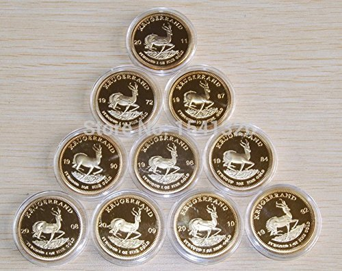 Primary image for South Africa Krugerrand 10 Coin Set 1 Oz Gold Coin Replica - Shipped from USA