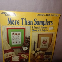 More than Samplers Cross Stitch Leaflet 402 Leisure Arts 1985 Welcome Christmas - $10.99