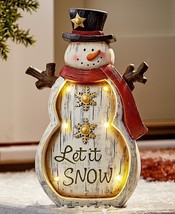 Christmas Yard Decoration Outdoor Lighted Snowman Holiday Statue Porch L... - €30,96 EUR