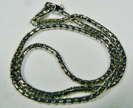 "High Quality Silver Tone Round link chain Necklace 16.5""L 3 mm wide - $19.80"