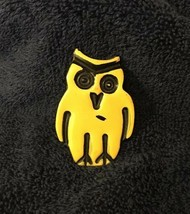 Yellow & Black Resin Owl Pin - $5.89