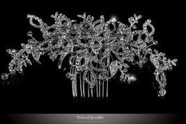 Karmala Garden Floral Spray Hair Comb | Swarovski Crystal - $88.95