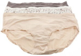 Breezies Silky Knit Full Brief Panties Set 4 Soft Animal L # A382452 - $3.96