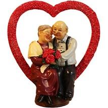 DreamsEden Loving Elderly Couple Figurines, Old Age Life Resin Home Deco... - $32.38