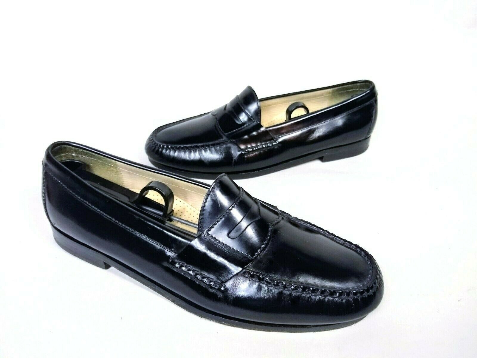 Cole Haan Mens Black Moc Toe Pinch Penny Leather Loafer Slip-on Shoes Size 9.5 image 4