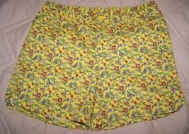 Gap Kids Girl's 5 Pocket Midi Shorts Yellow Floral Size 16 Reg, 14 Plus - Nwot - $15.00