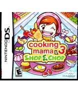 Cooking Mama 3: Shop & Chop (Nintendo DS, 2009) - $11.00