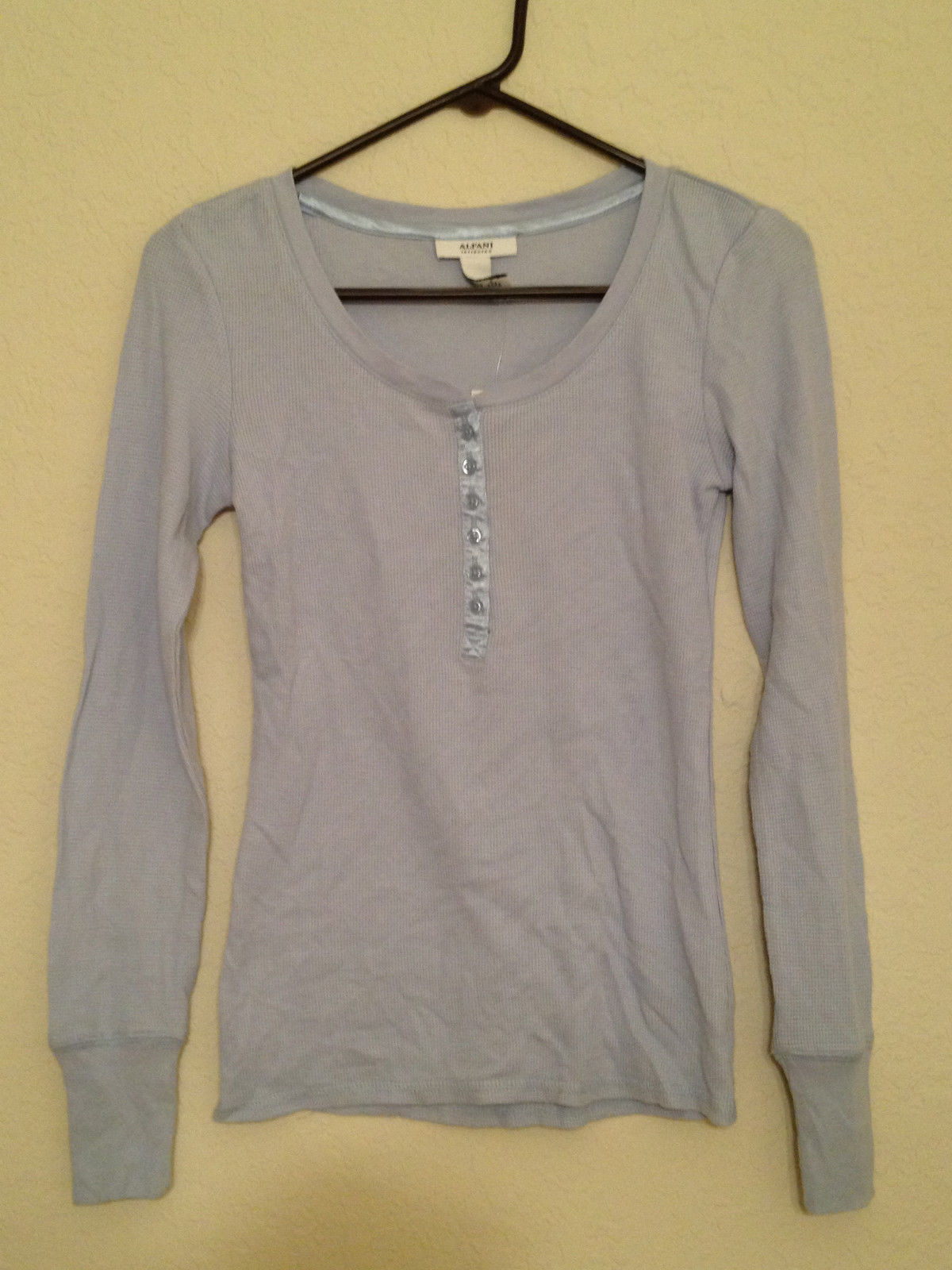 4b1348370606 Alfani Women's Waffle Knit Thermal Henley and 50 similar items. S l1600