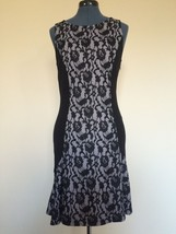 Anthropologie Maeve Lace Dress Black & White Bodycon Sz.M - $56.64