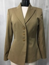 Anne Klein Women's Blazer Brown Fully Lined 3 Button  Blazer Size 6 - $19.79