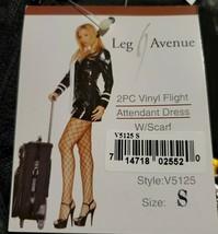 Leg Avenue Halloween Costume Women's Flight vinyl attendant flight Dress... - $19.80