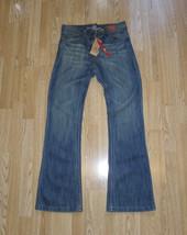 Blue Denim DENIM CO Zip Dark Wash Faded Bootcut Jeans Sz 10 / 38 L 31 Boho - $32.27