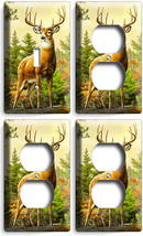 Whitetail Deer Buck 1 Light Switch Wall Plate 3 Outle Ts Hunting Cabin Room Decor - $35.09