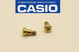 Casio GW-225A  GW-204K  bezel 2pcs Screws set gold tone position 1 H & 5 H - $10.95
