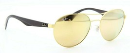 RAY-BAN Rb 3536 112/2Y Gold Brown Mirrored Authentic Frames Sunglasses 55-18 - $63.77