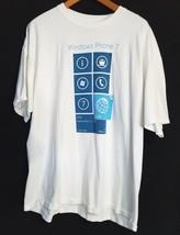 Windows Phone 7 T-Shirt White Mens Size 2XL RTM Microsoft Launch Date 09... - $16.61