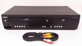 SANYO FWDV225F Vcr Dvd Video Player Combo 4 Head VHS Cassette Recording - $73.87