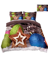 3D Christmas  Xmas 372 Bed Pillowcases Quilt Duvet Cover Set Single Quee... - $90.76