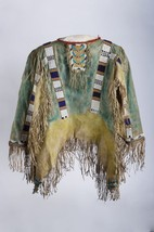 Old Style Native American Beads Buckskin Buffalo Suede POW WOW War Shirt NA136 - $199.00