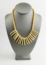 "19"" ESTATE VINTAGE Jewelry BOHO TRIBAL BOVINE BONE & RUNWAY STATEMENT NE... - $10.00"