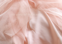 Blush Pink Long Tulle Skirt High Waisted Plus Size Long Tulle Tutu Blush Skirt image 8