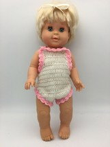 "Vintage Betsy Wetsy Baby Doll 1989 Ideal Drink Wet Blue Sleep Eyes 16""  - $19.95"