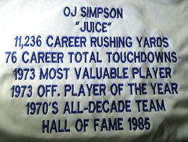 O.J. SIMPSON / HALL OF FAME / AUTOGRAPHED BUFFALO BILLS CUSTOM STAT JERSEY / JSA image 6