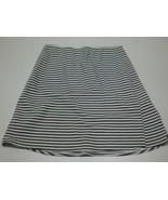 W14093 Womens ANN TAYLOR Black/White Striped A LINE SKIRT Stretch Small/4 - $28.96