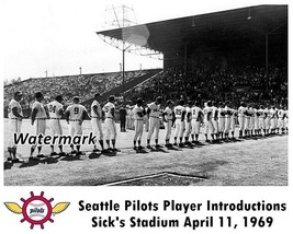 MLB 1969 Seattle Pilots Opening Day Sick's Stadium 8 X 10 Photo Picture - $5.99
