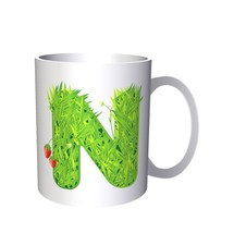 Letter N With Nature Drawings Funny  11oz Mug a416 - £8.43 GBP