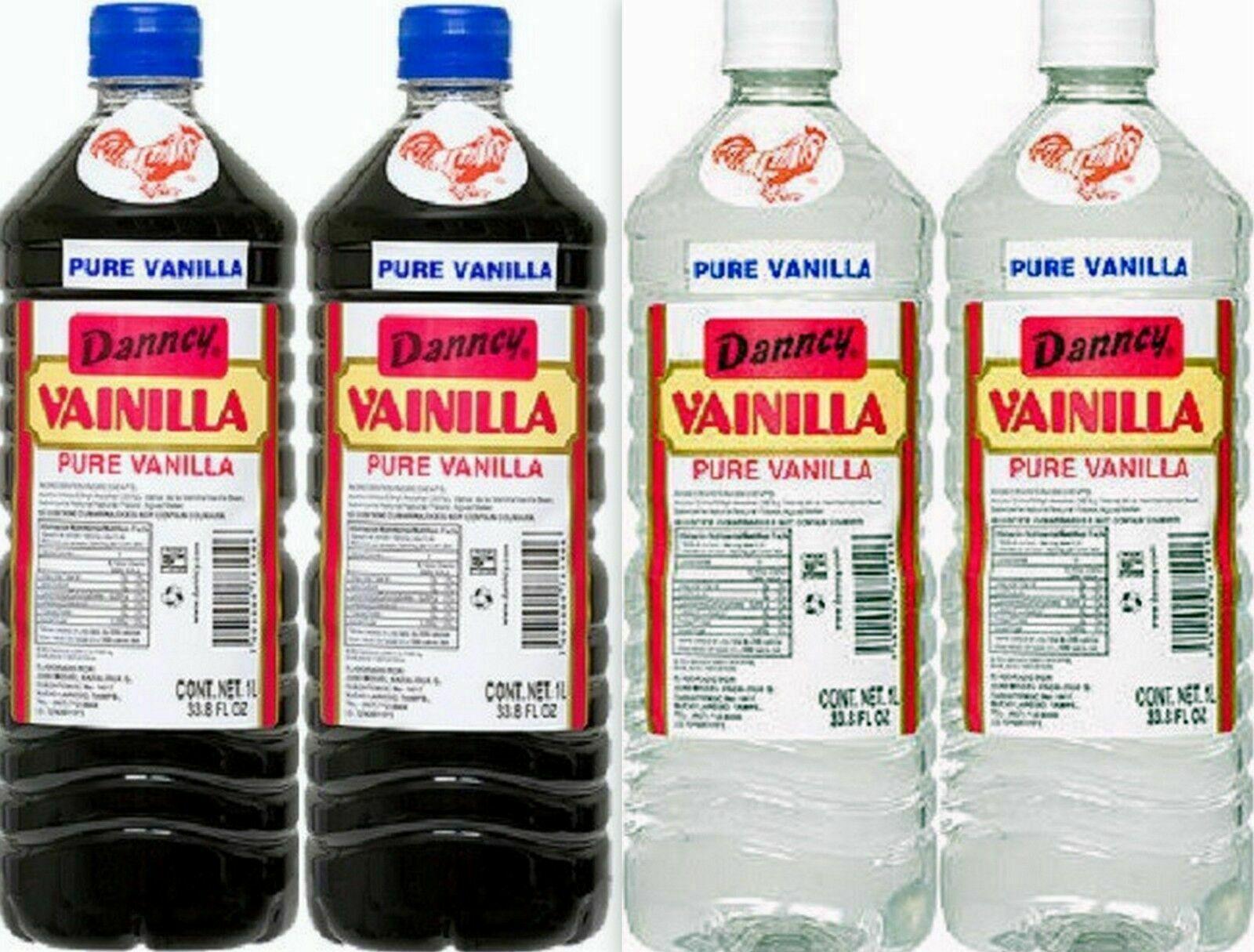 4 X Mixed Danncy Pure Mexican Vanilla Extract 33oz Ea Plastic Bottles Mexico - $35.00