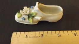 """Vintage Porcelain Ceramic Decorative Shoe With Flowers 3 1/2"""" CL29-13  - $12.99"""