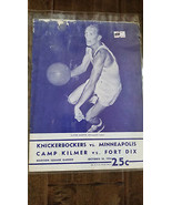 1954-55 MINNEAPOLIS LAKERS @ NEW YORK KNICKS CAMP KILMER FORT DIX NBA PR... - $59.99