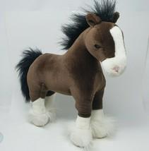 """15 """" GUND Clyde Marron Clydesdale Stallion Cheval Animal en Peluche Jouet #42985 - $26.90"""