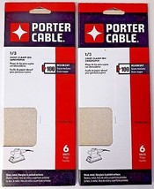 Porter Cable 783801006 1/3 Sheet Clamp On Sandpaper 100 Grit 2-6 PKS - $2.97