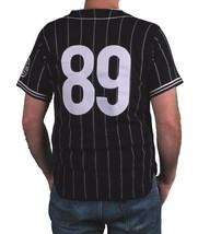 Hall Of Fame Black House Wool Blend Knit Button Up Baseball Jersey Shirt image 2