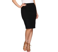 GILI Pencil Skirt Silhouette Invisible Side Zip Open Work Black 8 NEW A2... - $47.50