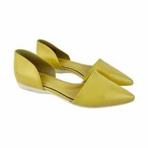 Franco Sarto Women's Yellow Pointed Toe Ballet Flats Sz 6.5 - $24.75