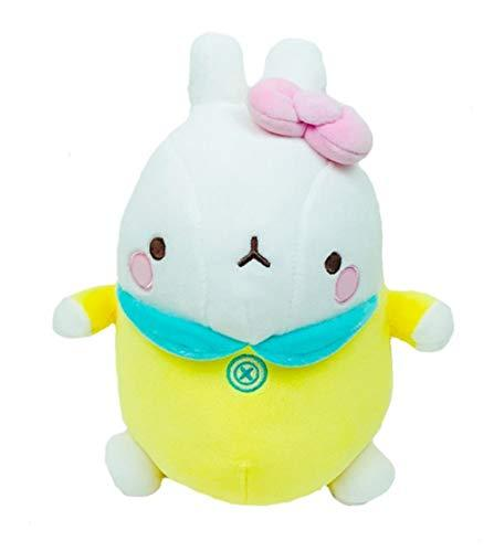 "Molang Soft Mochi Fluffy Bebe Stuffed Animal Rabbit Plush Toy 9.8"" (Yellow)"