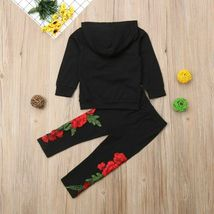 Fashion Toddler Baby Girl Floral Hooded Top Long Pants Outfits Clothes Tracksuit image 11