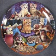 Frisky Business Collector Plate Litter Rascals Jurgen Scholz Cats Kitten... - $21.95