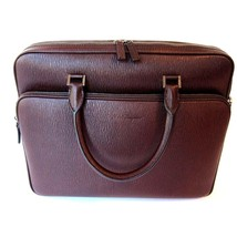 J-1806600 New Salvatore Ferragamo Leather Laptop Revival Gusset Briefcase - $949.99
