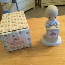 PRECIOUS MOMENTS - COLLECTOR'S CLUB MEMBERSHIP FIGURINE - 1983 WITH BOX - $6.80